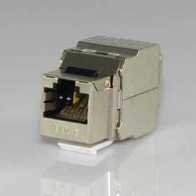 HYC-K18F23, Розетка Keystone 8P8C (RJ-45) CAT.6, экранированная (TOOL FREE)