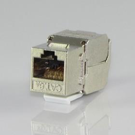 HYC-K28F33, Розетка Keystone 8P8C (RJ-45) CAT.6a, экранированная (TOOL FREE & PUNCH DOWN)