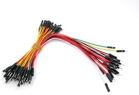 Фото 1/2 Breadboard Jumper Wire Pack(200mm/100mm), Набор проводов соединительных (M-M) 75 штук