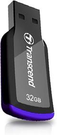 Флешка USB TRANSCEND Jetflash 360 32Гб, USB2.0, черный и фиолетовый [ts32gjf360]