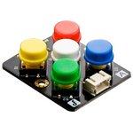 DFR0075, Add-On Board, ADKeyboard Module, 5 x Pushbuttons, Gravity Series ...