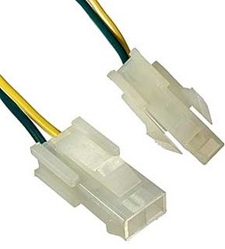 MF-2x1M wire 0,3m AWG20, Разъем штекер Mini-Fit 2 pin с кабелем