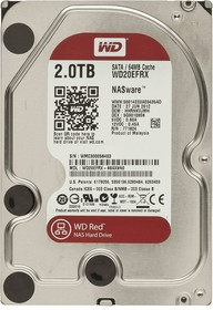 """Жесткий диск WD Red WD20EFRX, 2Тб, HDD, SATA III, 3.5"""""""