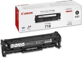 Картридж CANON 718BK 2662B002, черный