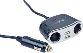 EG-UC-CAR1, Адаптер питания 12V-5V. 2 USB (2A) + 2 прикуривателя.
