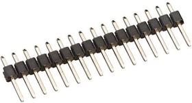 PLS-16 (DS1021 - 1x16), Вилка штыревая 2.54мм 1x16 прямая тип1