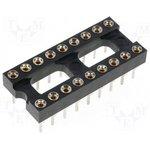 TRS-18 (SCSM-18) (DS1001-01-18N), DIP панель 18-контактная цанговая узкая