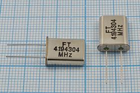 Фото 1/4 кварцевый резонатор 4.194304МГц в корпусе HC49U, без нагрузки, 4194,304 \HC49U\S\ 30\\U[FT]\1Г (FT4,194304)