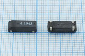 кварцевый резонатор 4.194304МГц в корпусе SMD 12.5x4.5мм ,нагрузка 16пФ; 4194,304 \SMD12545P4\16\ 50\\ZM309\1Г