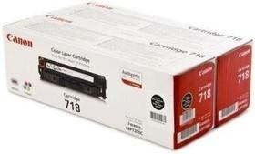 Двойная упаковка картриджей CANON 718BK черный [2662b005]