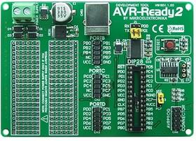 MIKROE-417, AVR-Ready2 Board, Макетная плата для 28-pin мк AVR