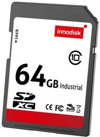 DESDC-64GY81BW3SC, Накопитель 64Гб SD card 3.0, MLC, -40...70 °С