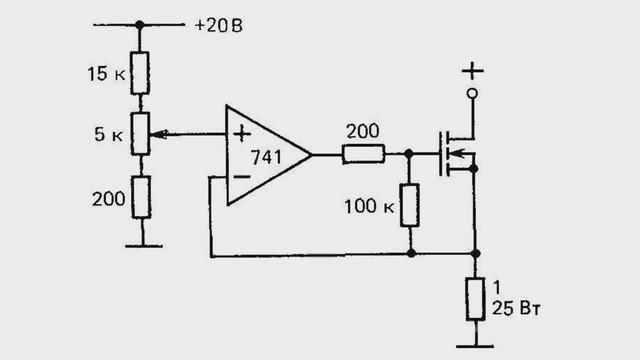 Стабилизатор тока на полевом