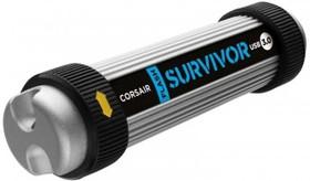 Флешка USB CORSAIR Survivor 32Гб, USB3.0, серебристый и черный [cmfsv3-32gb/ cmfsv3b-32gb]