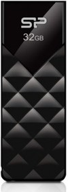 Флешка USB SILICON POWER Ultima U03 32Гб, USB2.0, черный [sp032gbuf2u03v1k]
