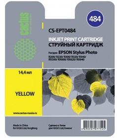 Картридж CACTUS CS-EPT0484 желтый