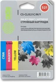 Набор картриджей CACTUS CS-CLI521C/M/Y голубой / пурпурный / желтый
