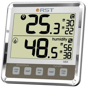 02404 RST Цифровой термогигрометр с большим дисплеем, цвет слоновая кость. EAN 7316040024047