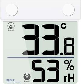 01378, Термогигрометр цифровой оконный на солнечной батарее