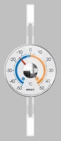 02097 Термометр оконный биметаллический, на липучках, RST. EAN 7316040020971