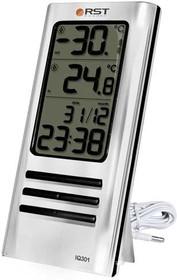 02301 RSTЦифровой термометр, дом/улица, серебряный корпус. EAN 7316040023019