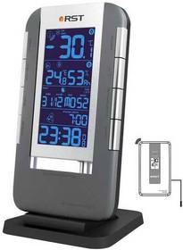 02711 RST Термометр цифровой с радио-датчиком, часы, гигрометр. EAN 7316040027116