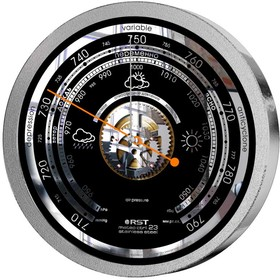 07823 RST Барометр meteo ctrl 23 stainless steel, диам. 208 х 41 mm. EAN 7316040078231