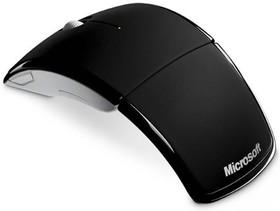 Мышь MICROSOFT ARC лазерная беспроводная USB, черный [zja-00065]