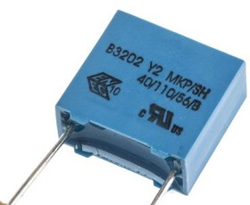 B32021A3103M289, Cap Film Suppression Y2 0.01uF 300VAC PP 20% (13 X 6 X 12mm) Radial 10mm 110C Automotive Ammo