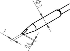 0462CDLF010, Насадки для выпаивания 1.0мм к Chip Tool VARIO