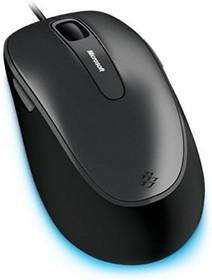 Мышь MICROSOFT Comfort 4500 оптическая проводная USB, серый и черный [4fd-00024]