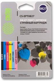 Набор картриджей CACTUS CS-EPT0827 черный / голубой / пурпурный / желтый / светло-голубой / светло-пурпурный