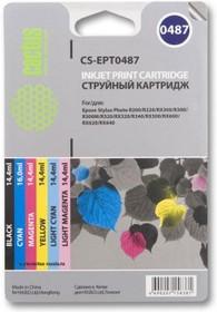 Набор картриджей CACTUS CS-EPT0487 черный / голубой / пурпурный / желтый / светло-голубой / светло-пурпурный
