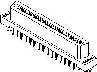 0015921100, Conn EBBI RCP 100 POS 1.27mm Solder ST Thru-Hole 100 Terminal 1 Port EBBI™ Tray