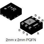 IRFHS9351TR2PBF, 2Pкан -30В -5.1А PQFN2x2