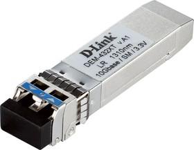 DEM-432XT/D1A, 10GBASE-LR SFP+ Transceiver (w/o DDM), 3.3V, up to 10 km single-mode fiber cable distance coverage