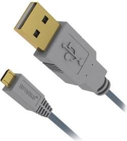 SG1195, Кабель USB2.0 A вилка - micro USB B (5P) вилка, High Speed W/E, GOLD, 1.8м