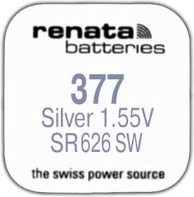 Фото 1/2 R 377 (SR 626 SW, 1.55V, 30mAh, 6.8x2.6mm)(батарейка для часов)