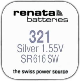 Фото 1/2 R 321 (SR 616 SW, 1.55V, 13mAh, 6.8x1.6mm)(батарейка для часов)