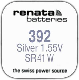 R 392 (SR 41 W, 1.55V, 45mAh, 7.9x3.6mm)(батарейка для часов)