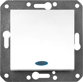 V01-11-P12-M (Переключатель/выкл. проходной 1-кл. с инд. (бел), м-зм, Magenta)