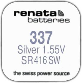 R 337 (SR 416 SW, 1.55V, 8mAh, 4.8x1.65mm)(батарейка для часов)