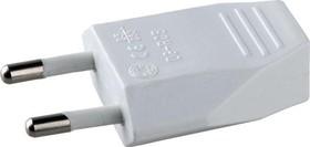 S1-P, Вилка штепсельная плоская, разборная белая