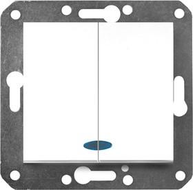 V01-11-V22-M (Выключатель 2-кл. с инд. (бел), м-зм, Magenta)