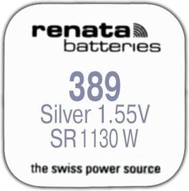 Фото 1/2 R 389 (SR 1130 W, 1.55V, 80mAh, 11.6x3.1mm)(батарейка для часов)