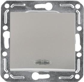 V01-15-V12-M (Выключатель 1-кл. с инд. Argento(серебро), м-зм, Magenta )