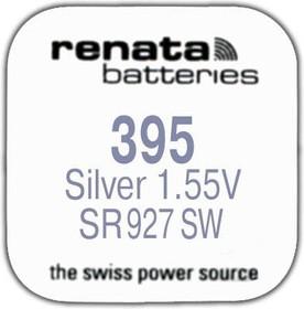 Фото 1/2 R 395 (SR 927 SW, 1.55V, 57mAh, 9.5x2.6mm)(батарейка для часов)