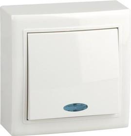 V01-31-P12-S (Переключатель/ выкл.проходной 1-кл. c инд. (бел), Solar)