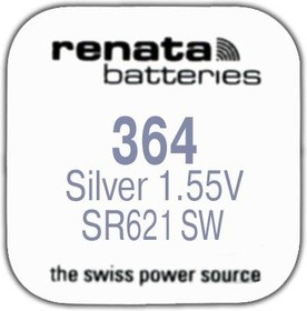 Фото 1/2 R 364 (SR 621 SW, 1.55V, 22mAh, 6.8x2.1mm)(батарейка для часов)