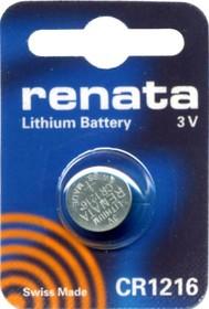 CR 1216 (батарейка литиевая Li/MnO2, 25mAh, 3V)